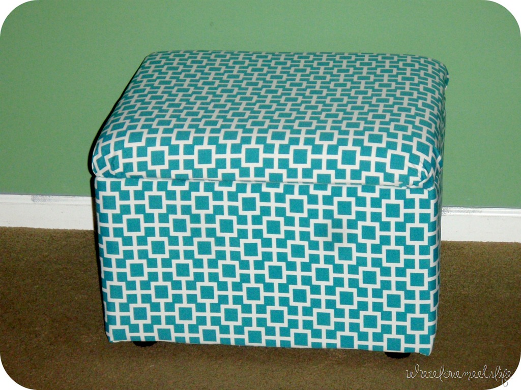 After - DIY Storage Ottoman Reveal Wherelovemeetslife