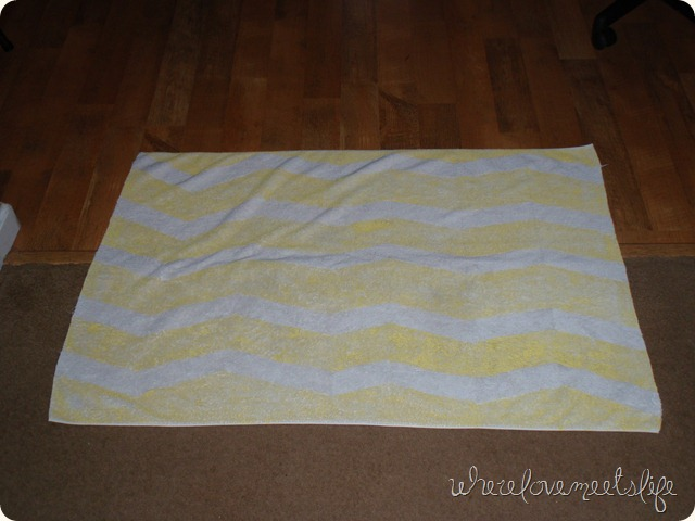 DIY towel chevron rug