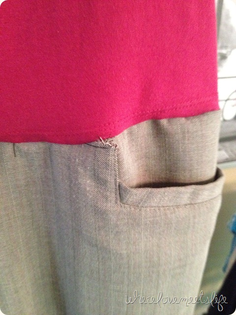 mistake on pocket DIY maternity
