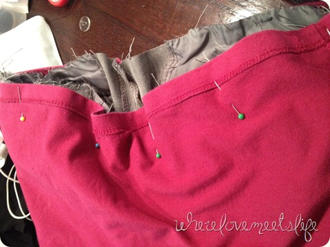pin top DIY maternity