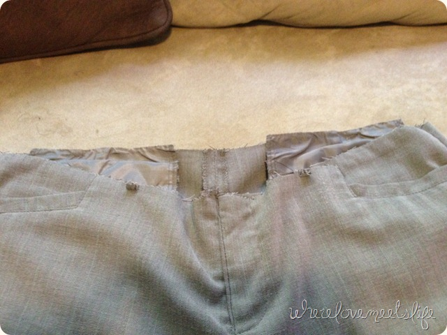 waist band removed DIY maternity