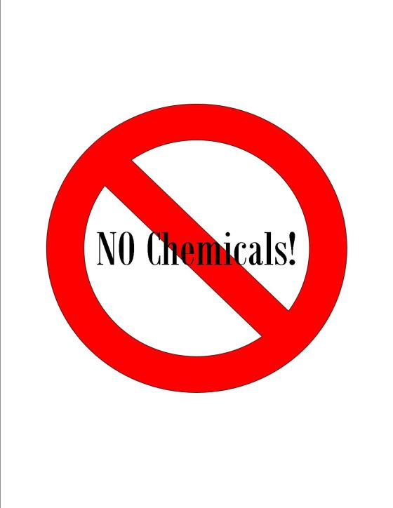no chemicals