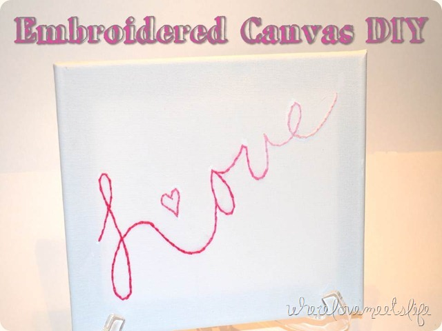 Embroidered Canvas DIY