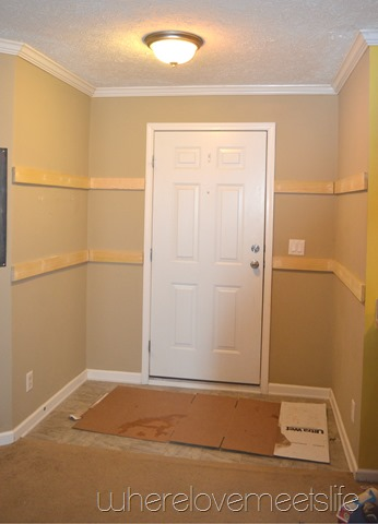 Entryway before paint