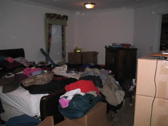 Master bedroom 1st week